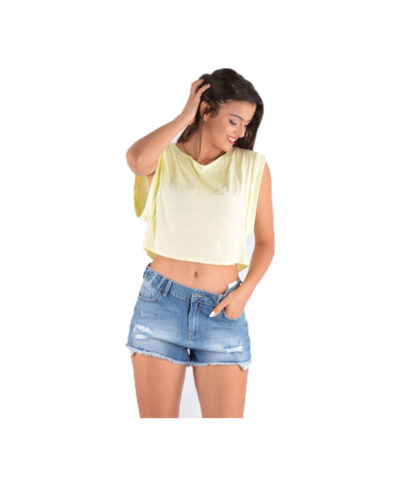kitrino yellow cropped top krop top crop top super sales summer deals summer offers summer bazzar ola misi timi
