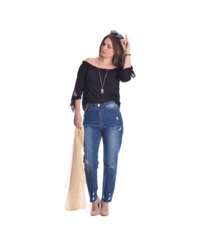 blue jeans antifit boyfriend made in italy anoiksh kalokairi 2019 donna ginekio