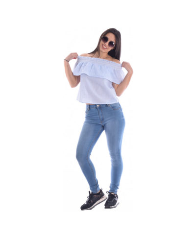 blue jeans made in italy woman donna gunaika anoiksh kalokairi spring summer 2019 stretch skinny
