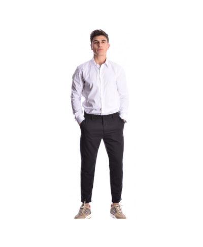 mauro black nero ifasmatino kalokairino antriko panteloni imperial fashion 2019 me girismeno rever kai tsepes sto plai me teleia efarmogh kai style