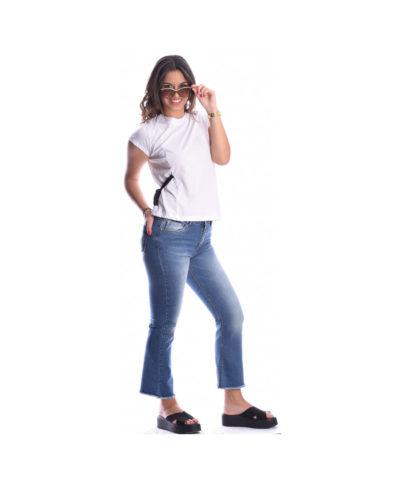mple jean blue jeans panteloni italiko ginaikeio kalokairino me kampana kai kseftia sto reber