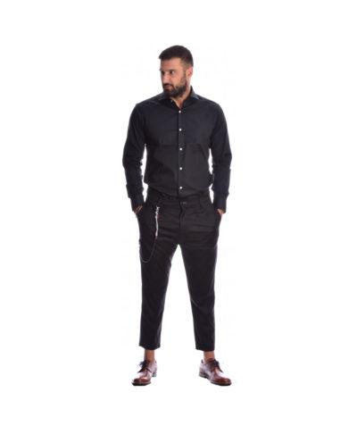 mauro black poukamiso italiko setarismeno set me mauro ifasmatino italiko panteloni imperial fashion 2019 fall winter