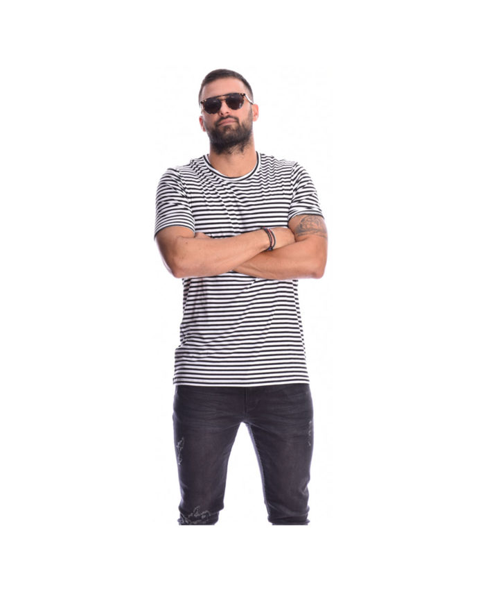 mauri leuki black white rige kontomaniki mplouza i-clothing longline me kokkino red logo sthn plath 2019