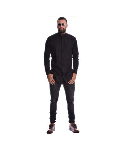 mauro black poukamiso me mao giaka papadistiko katholiko i-clothing 2019 dark longline