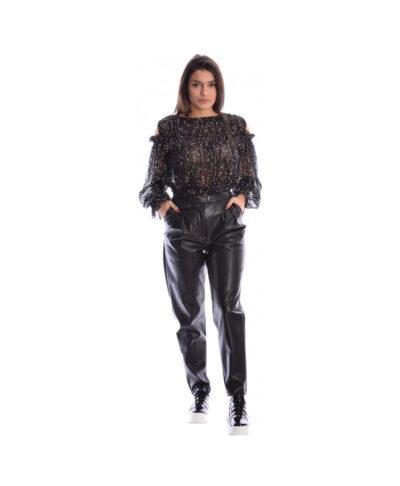 mauro dermatino dermatini panteloni black leather pants made in italy 2019 xeimwnas me pietes kai tsepes pshlokabalo