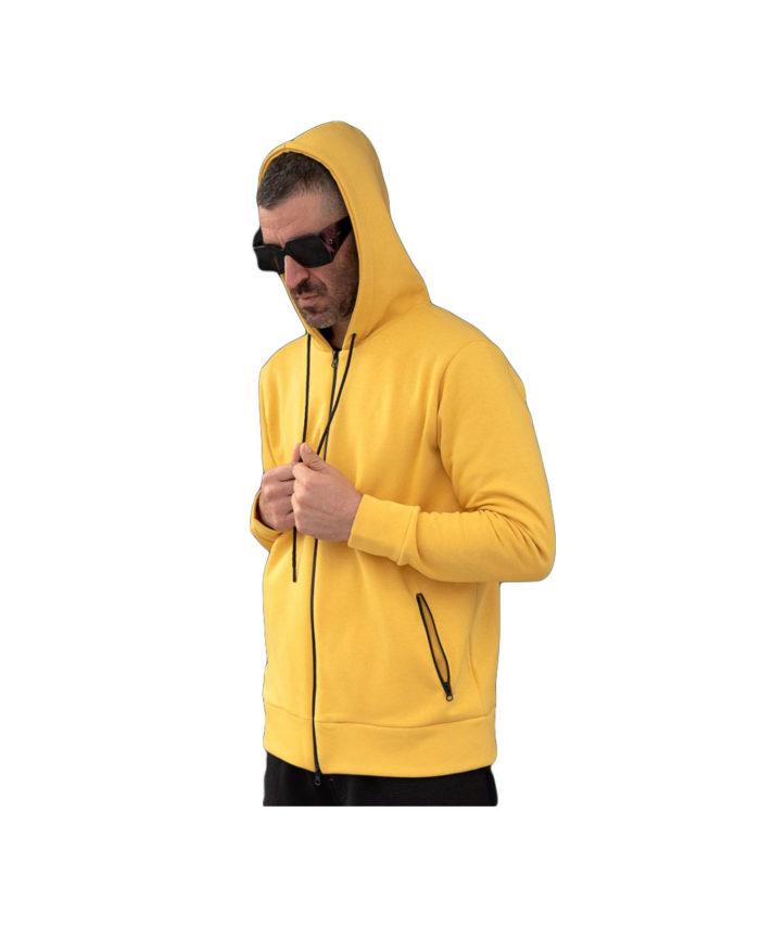 kitrinh yellow hoodie me koukoula kai tsepes i-clothing 2019 winter