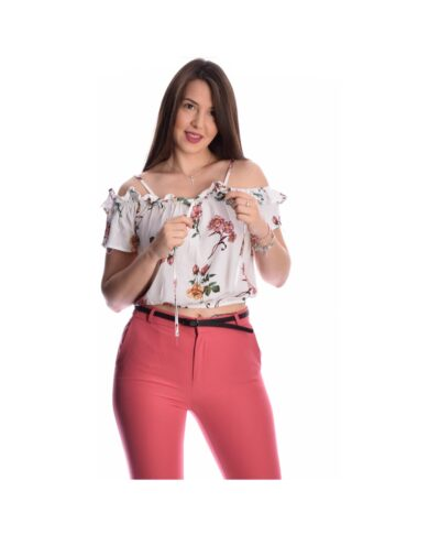 leuko white amaniko strapless cropped top italiko floral 2020