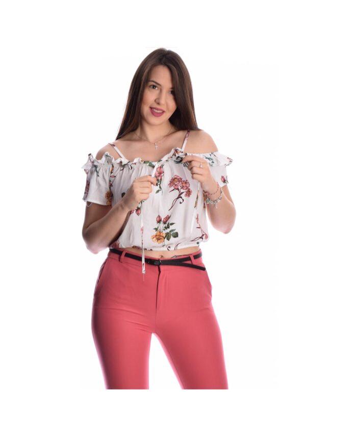 leuko white amaniko strapless cropped top italiko floral 2020