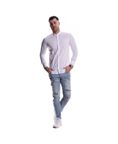 elastiko efarmosto stretch & skinny jeans me skisimata kai fthores made in italy spring summer 2020 collection