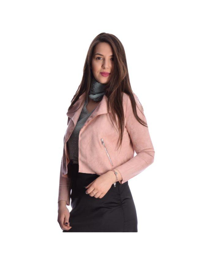 somon roz mpolero sakaki me tsepes kai giaka italiko made in italy spring summer 2020