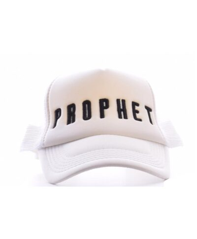 leuko white kapelo antriko kalokairino me file sto pisw meros kai kenthmeno mauro black logo logotupo mprosta by prophet skg summer 2020