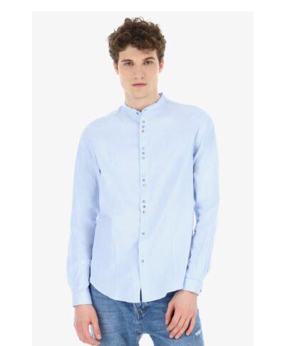 siel azzuro shirt kaloakirino italiko poukamiso me mao giaka made in italy korean 2020