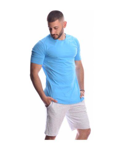 azzure siel kalokairini light blue kontomaniki italiki mplouza tshirt imperial made. in italy summer 2020 me stravi rafh plagia asimetro teleiwma kai kampulh