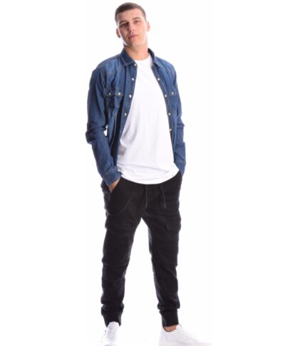 navy blue jeans shirt makrumaniko made in italy 2020 me leukh perla koumpia koumpwma jeans 2020