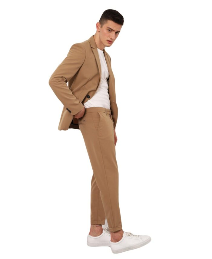 CAMEL KAMHLO UFASMATINO PANTELONI made in italy ankle length imperial fashion 2021