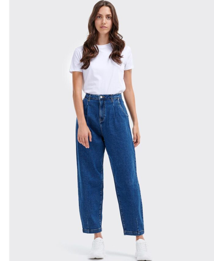 bootcut pshlomeso panteloni boyfriend anti fit made in italy denim blue jeans