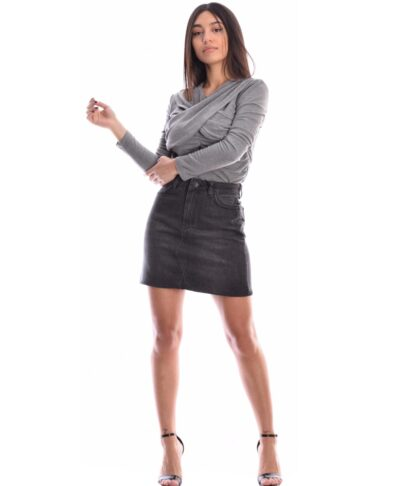 maurh tzin black jeans mini fousta skirt desiree foustes