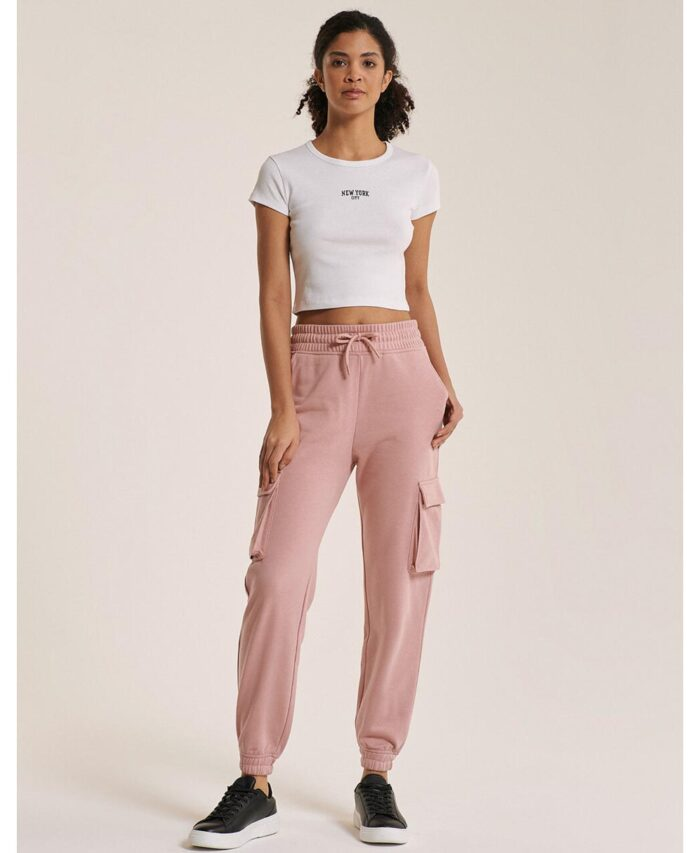roz nude pink panteloni formas cargo pants made in italy spring summer 2021