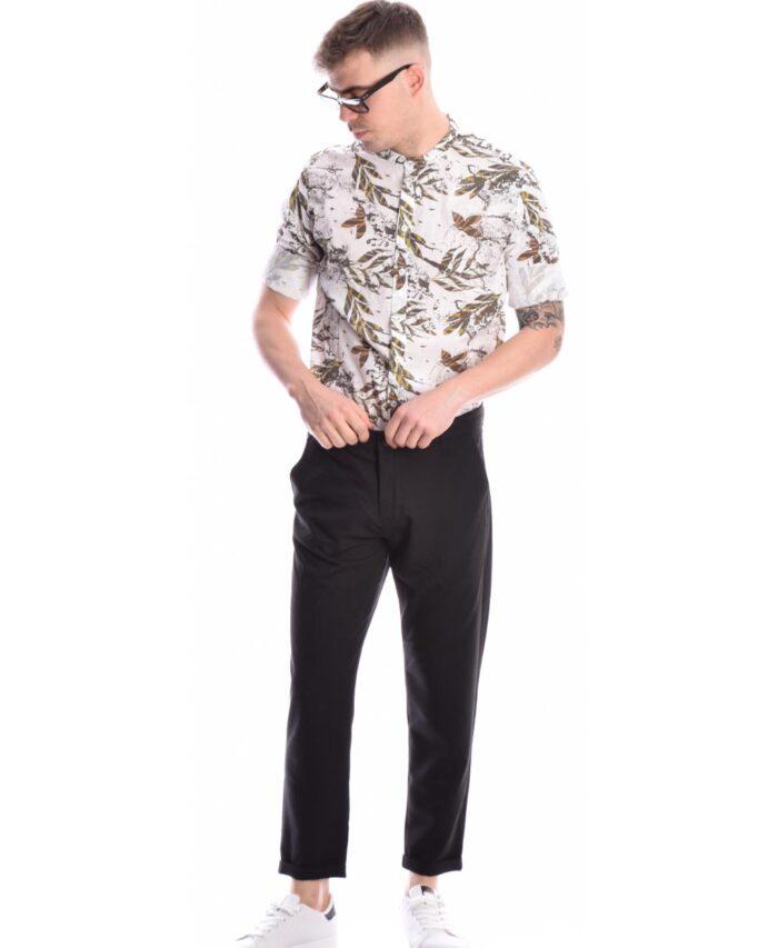 leuko floral emprime poukamiso italiko me mao giaka made in italy imperial fashion spring summer 2021 uomo me fila