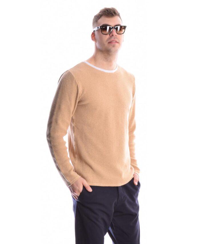 beige mpez camel tampas nhmatinh anoiksiatiki mplouza imperial fashion 2021 made in italy