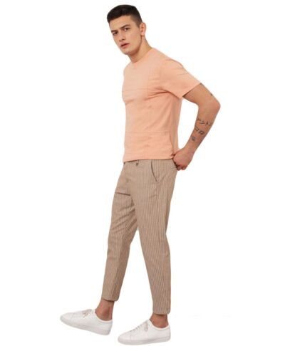 mpez beige kamel camhlo ufasmatino italiko panteloni imperial fashion spring summer 2021 made in italy me riges rige stripes