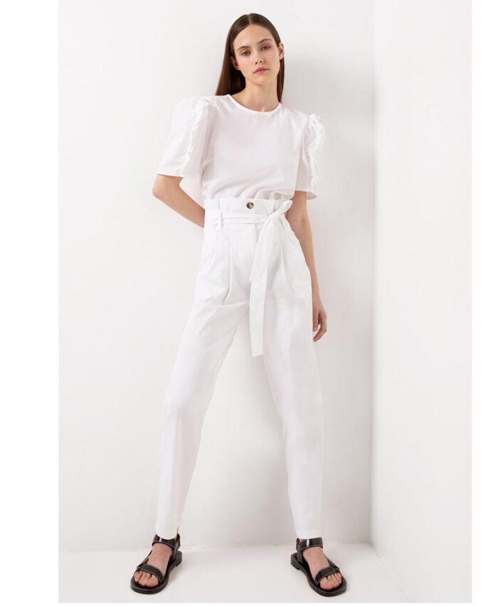 leuko white paperbag ufasmatino panteloni desiree 2021 spring summer
