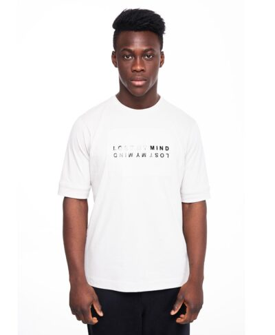 leukh white t-shirt p/coc me stampa lost my mind