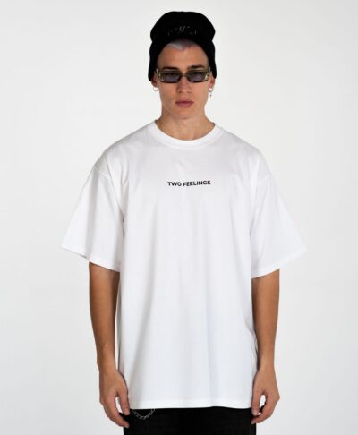 leukh white t-shirt two feelings 2021
