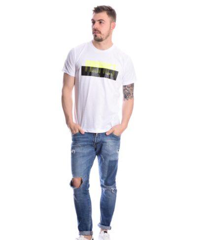 leuko white t-shirt prophet skg 2021 me neou tupou stampa autokollhto