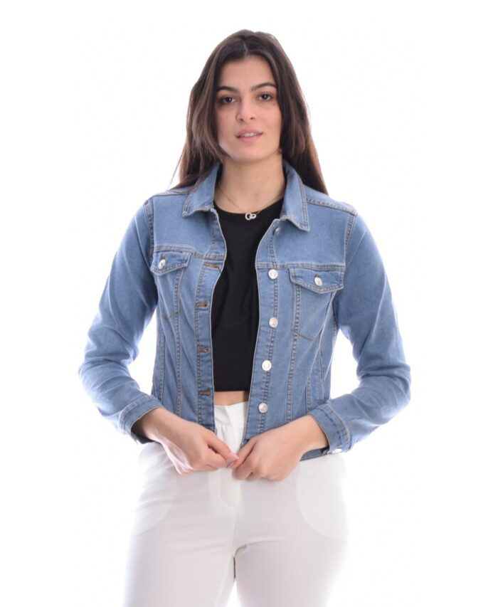 light blue jeans made in italy jacket