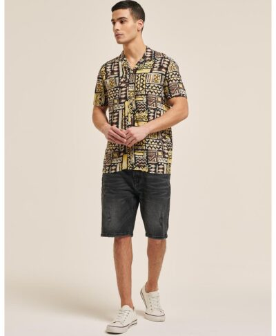 aztec shirt made in italy lino cotton 2021