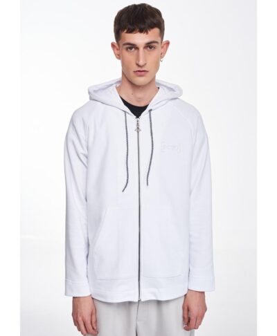 leukh white hoodie zaketa p/coc 2021 me koukoula