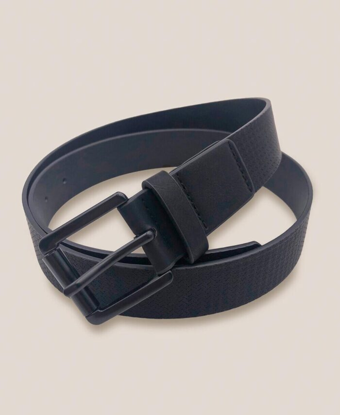 maurh black leather belt made in italy 2021