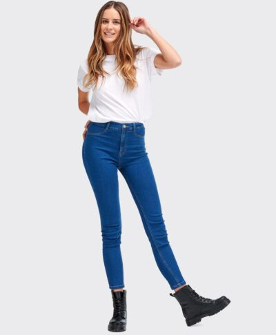high waits jeans blue jeans made in italy stretch skinny 2021 5 pockets