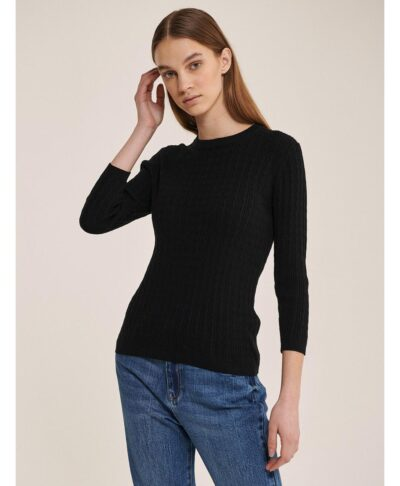 mauro black knit pullover made in itlay 2021