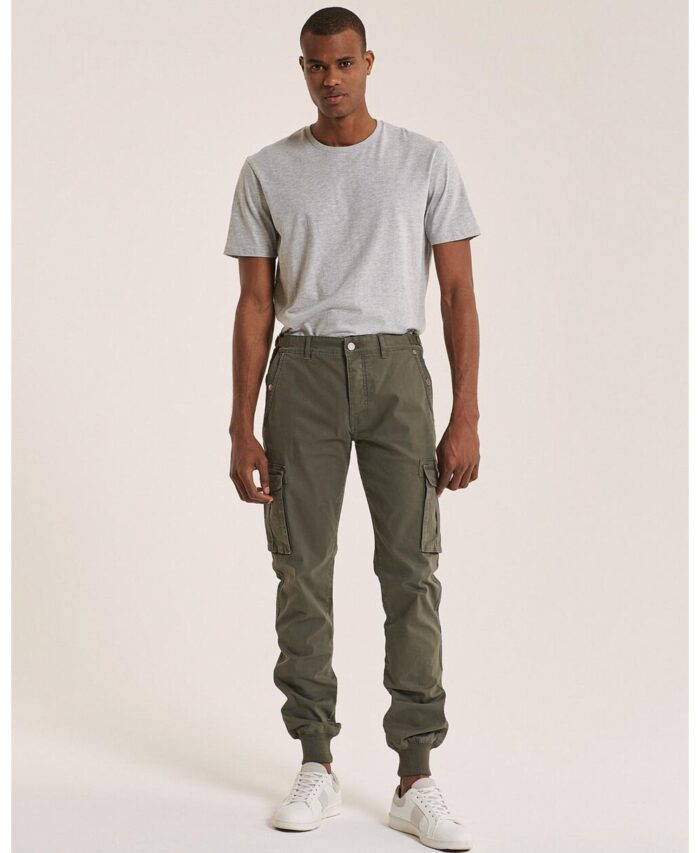 chaki olive cargo jogger baggy pants made in italy 2021