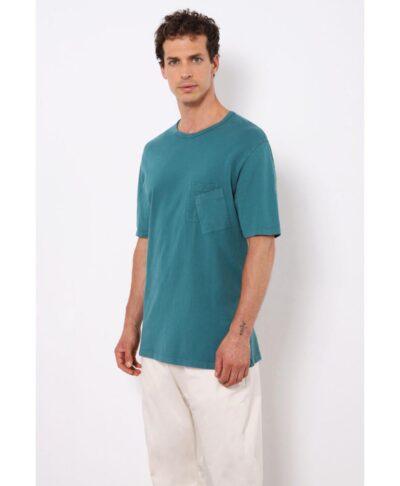 mple petrol kontomaniki t-shirt mplouza me diplo tsepaki sto stithos made in italy imperial fashion