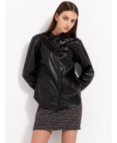 mauro black leather effect leather look ginekio poukamiso desiree 2022