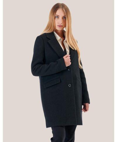 mauro black coat made in italy alcott 2022