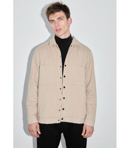 beige cream tsoxino jacket poukamiso p/coc fall winter 2021