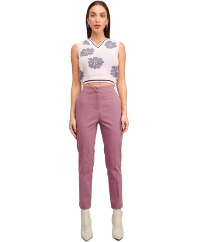 violeti kapnismeno roz ufasmatino panteloni ankle length mhkos astragalo me lastixo sth mesh my t wearables 2021 xeimonas