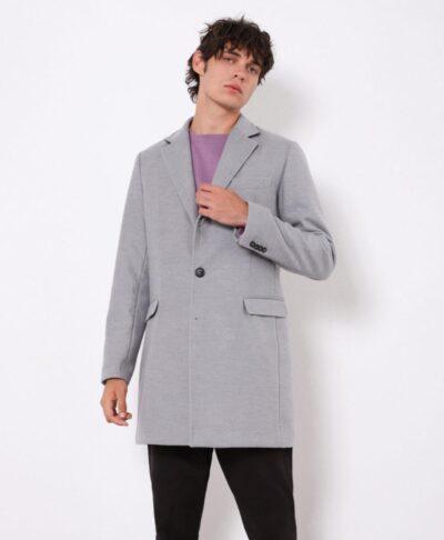 anoixto grey gkri melanze italiko palto imperial winter coat